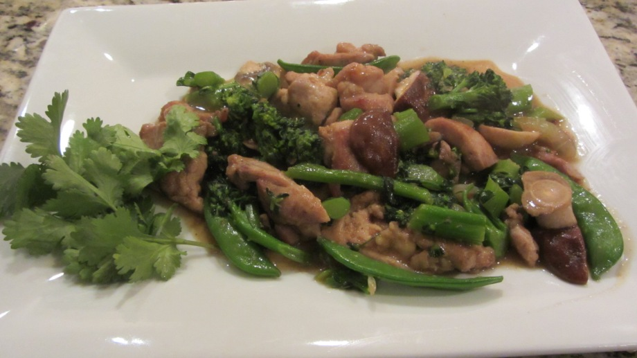 Stir fried chinese chicken with veggies