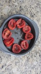 Split , seed and roast tomatoes